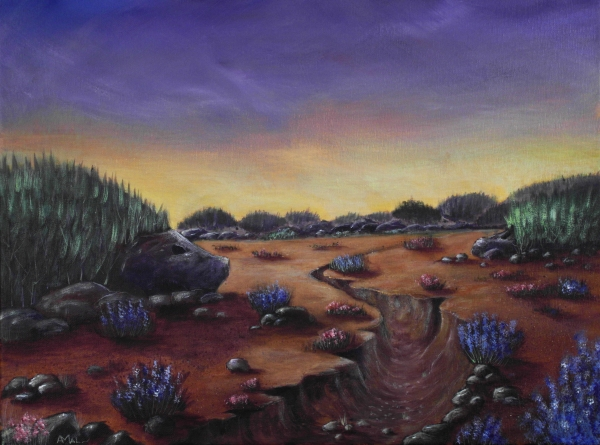 Valley of the Hedgehogs Painting  - Valley of the Hedgehogs Fine Art Print