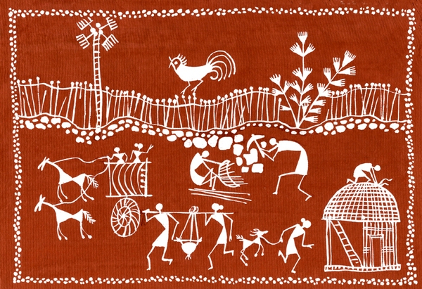tribal artwork. Warli Tribal Art Painting