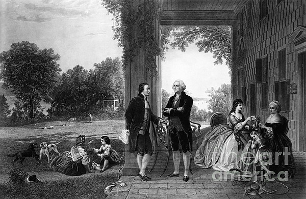 History Photograph - Washington And Lafayette, Mount Vernon by Library of Congress