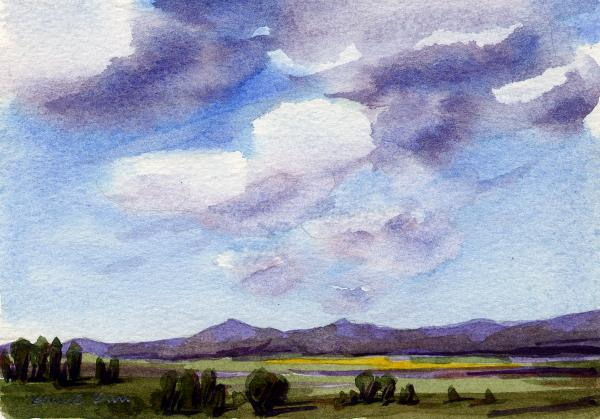 Watercolor Landscape 4 Painting by Konnie Kim