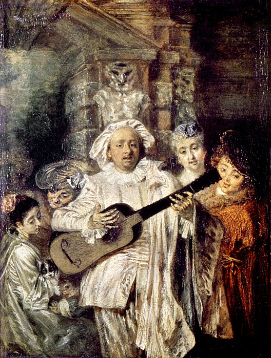 18th Century Photograph - Watteau: Gilles & Family by Granger