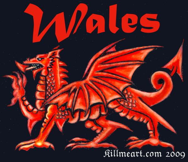 Welsh Dragon Mixed Media by William Burns