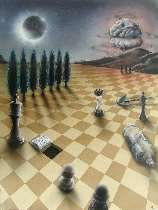Surrealism Painting - Whats Right by Michael Dennis