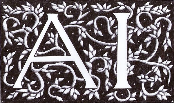 William Morris Initials A I Drawing