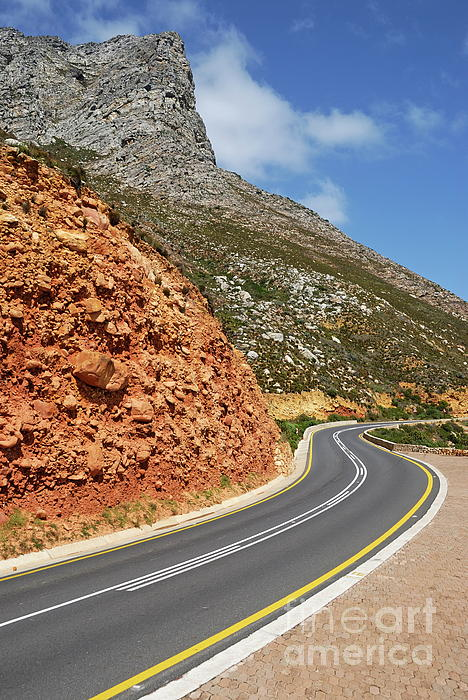 Winding Costal Road Between Gordons Bay And Bettys Bay Photograph  - Winding Costal Road Between Gordons Bay And Bettys Bay Fine Art Print