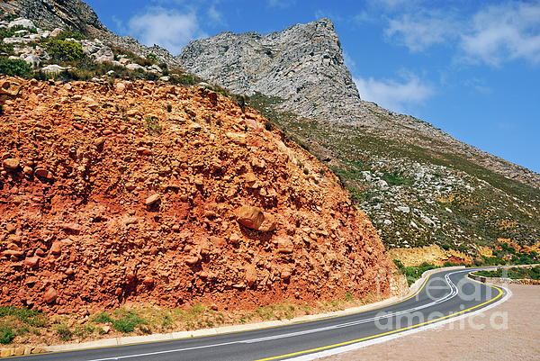 Winding Road Between Gordons Bay And Bettys Bay Photograph  - Winding Road Between Gordons Bay And Bettys Bay Fine Art Print