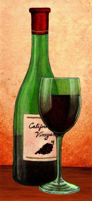 Cyrus 39 s blog wine bottle and glass for Painting and wine