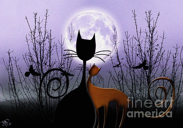 Rosa Cobos - Winter Moon Cats In Love
