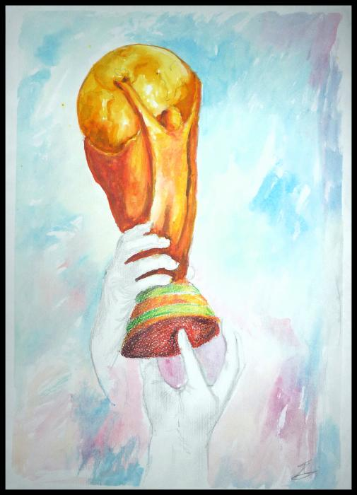World Cup Drawing by Petar Lazarov. Tags: world cup drawings, trophy