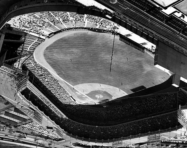 Photograph - Yankee Stadium On Labor Day. 20,000 by Everett