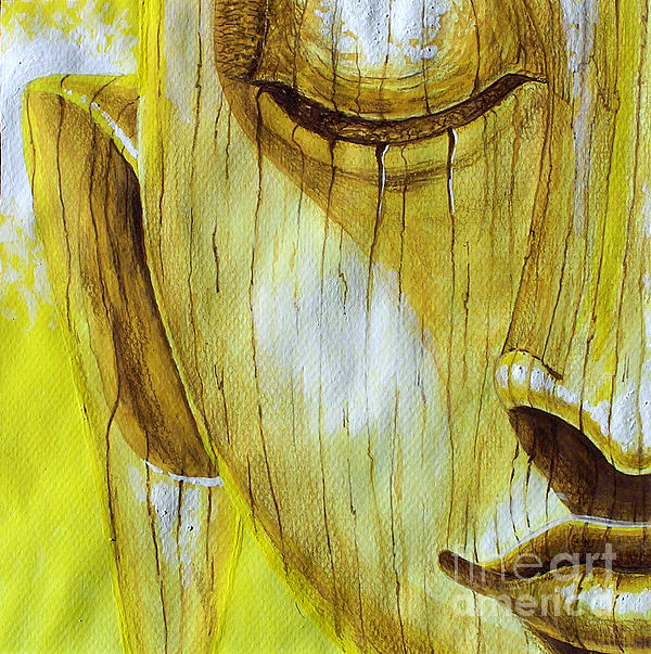 Yellow Buddha Painting  - Yellow Buddha Fine Art Print