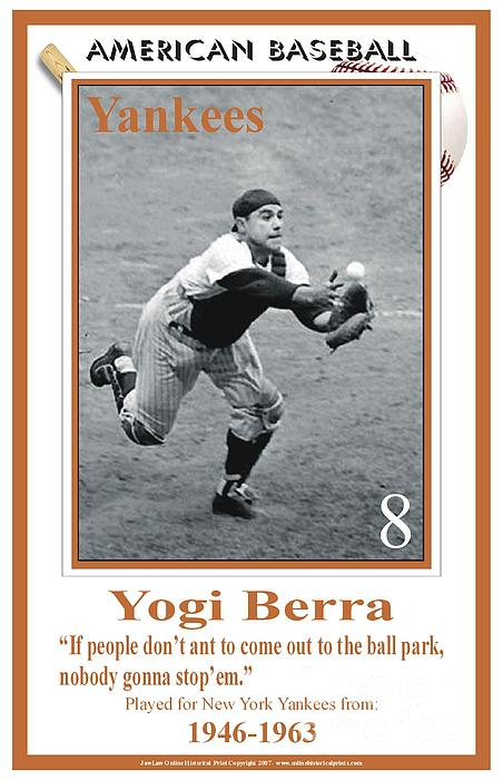 Yogi Berra Digital Art