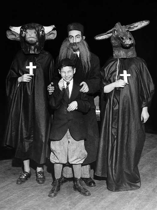 History Photograph - Young Communists Stage An Anti-religion by Everett