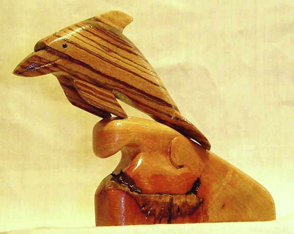 Wood carving fish sculptures for sale