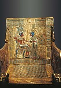 Egyptian Art Prints - © Aisaeverett Collection Throne Print by Everett