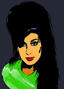 Singer Songwriter Digital Art -  Amy  Winehouse by Andrzej  Szczerski
