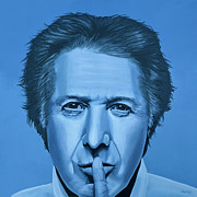 Finding Prints -  Dustin Hoffman Print by Paul  Meijering