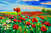 Acrylic Art Prints -  Fields of flowers Print by Ivailo Nikolov
