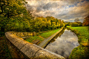 Fence Digital Art Prints -  Llangollen Canal Print by Adrian Evans