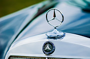 Collector Hood Ornament Metal Prints - 1958 Mercedes-Benz 220S Cabriolet Hood Ornament - Emblem Metal Print by Jill Reger