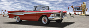 Route 66 Prints - 1959 Edsel Corsair Print by Mike McGlothlen