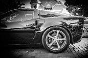 Limited Edition Framed Prints - 2010 Chevrolet Corvette Grand Sport BW Framed Print by Rich Franco