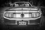 2010 Photo Posters - 2010 Ford Mustang GT Convertible BW Poster by Rich Franco