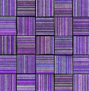 Stripe.paint Posters - 3d Abstract Striped Tile Backdrop In Purple Lavender Poster by Tom Spilliaert