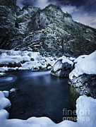 White River Scene Photos - A River Flowing Through The Snowy by Evgeny Kuklev