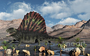 Large Scale Posters - A Sail-backed Dimetrodon From Earths Poster by Mark Stevenson