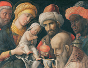 Nativity Paintings - Adoration of the Magi by Andrea Mantegna