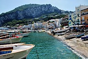 Dany Lison Metal Prints - Arrival to Capri  Metal Print by Dany Lison