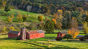 Old Barns Metal Prints - Autumn Light Metal Print by Bill  Wakeley