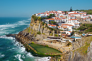 Rough Sea Framed Prints - Azenhas do Mar Framed Print by Carlos Caetano