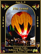 At Poster Digital Art Metal Prints - Balloon Glow Metal Print by Ronald Chambers