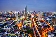Fototrav Print - Bangkok City night skyline