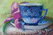 Coffee And Flowers Fine Art Print by Nancy Stutes