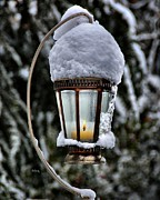 Snowy Night Photo Posters - Cold Candle Light Poster by Patrick Witz