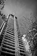 Highrise Framed Prints - Construction Site Framed Print by Rudy Umans