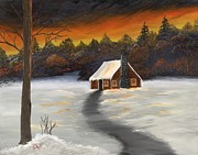 Lisa Rodriguez Art - Cozy Cabin by Lisa Rodriguez