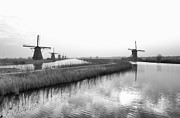 Old Mills Photos - Dutch Windmills by Hans Engbers