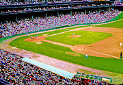 Fenway Park Digital Art Prints - Fenway Frenzy  Print by David Schneider