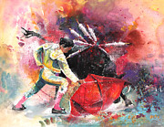 Bullfight Paintings - Final Throews by Miki De Goodaboom
