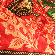 African Cloth Posters - Floral fabric Poster by Tom Gowanlock