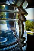 Pottawatomie Posters - Fresnel Lens Replica - Pottawatomie Lighthouse Poster by Carol Toepke