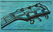 Gibson Guitar Drawings Posters - Gibson Poster by William Cauthern