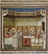 Giotto Di Bondone Framed Prints - Giotto Di Bondone 1267-1337. Scenes Framed Print by Everett