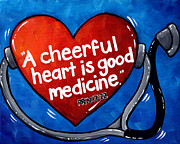 Proverbs Paintings - Healthy Heart by Krystal Bilberry