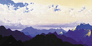 Mountain Peaks Prints - Heavens Breath 21 Print by Marsha Charlebois