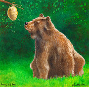 Honey Prints - Honey And Bear... Print by Will Bullas